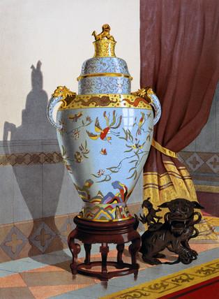 Chinese porcelain vase, 1876.