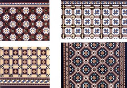 Ornamental tiles, 1876.