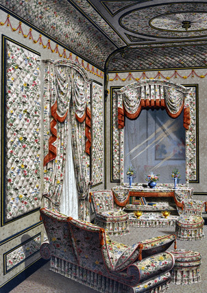 Interior decoration, 1876.