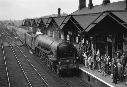 British Railways A1 Clas steam locomotive No 60131 'Osprey', 1960s.