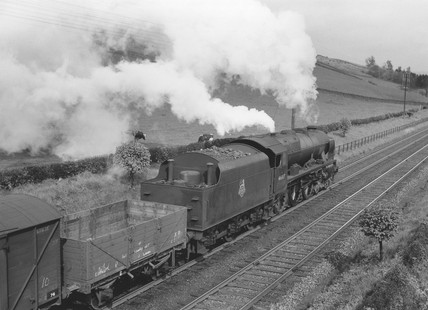 British Railways steam locomotive 'Argyll & Sutherland Highlander, mid 1950s.