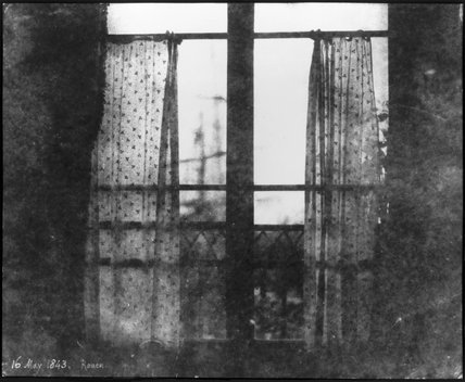 A curtained window, Rouen, France, 16 May 1