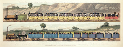 Travelling on the Liverpool & Manchester Railway, 1831.