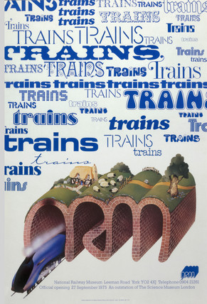 National Railway Museum', offical opening poster, 27 September 1975.
