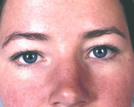 Woman with blue eyes, May 2000.