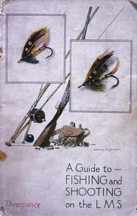 'A guide to fishing and shooting on the LMS', LMS guidebook, c 1920s.
