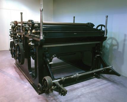 Victory-Kidder rotary printing pres, 1870.