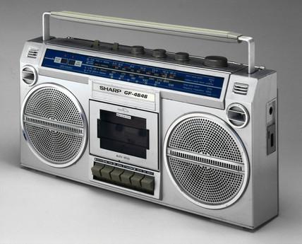 Sharp stereo radio and tape player, 1983.