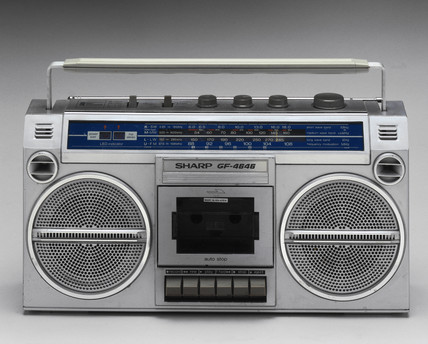 Sharp stereo radio and tape player, 1983.