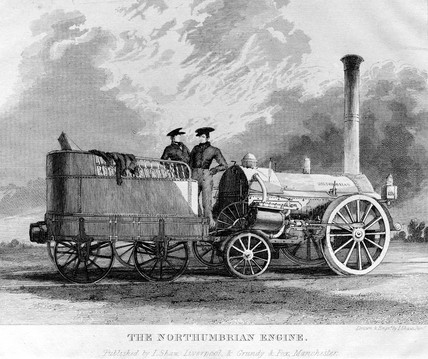 'Northumbrian' steam locomotive, 1830.