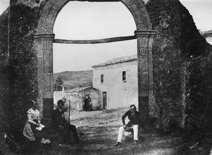 St Nicolo's convent and chapel, Mount Etna, Sicily, Italy, 1846.