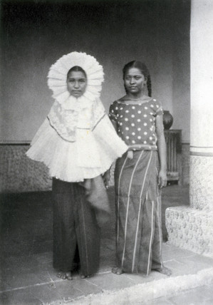 A portrait of two Mexican women, 1896.