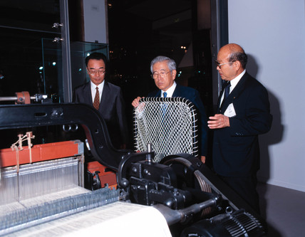 Toyoda automatic loom in operation, Science Museum, London, 2000.