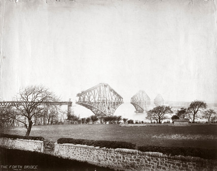 Construction of the Forth Railway Bridge,  1887.
