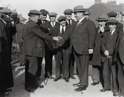 Ernest Bevin with his supporters, Gateshead, 15 October 1931.