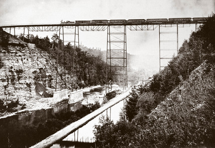 Portage Viaduct, New York, United States, late 19th century.
