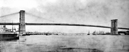 Brooklyn Bridge, New York City, late 19th century.