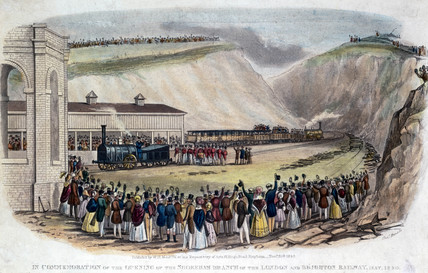 Opening of the Shoreham Branch of the London & Brighton Railway, May 1840.