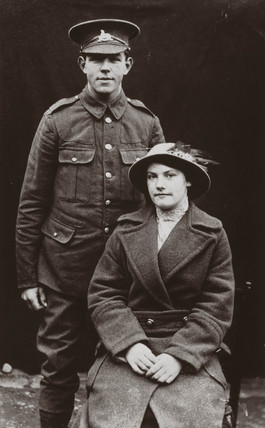 Soldier and his wife, 1914-1918.