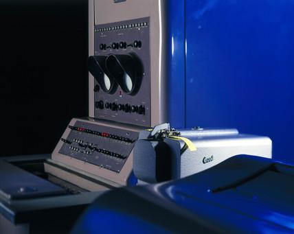 Ferranti Pegasus computer printer and punched-tape set, 1956.