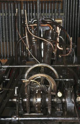 The V2-cylinder engine of a Panhard-Levasor 4 hp motor car, 1894.