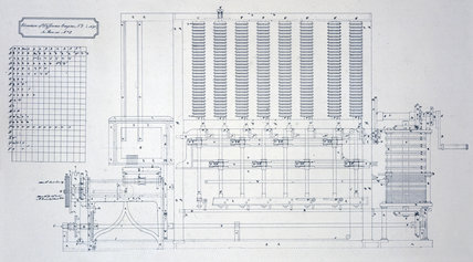Babbage's Difference Engine No 2, c 1847.