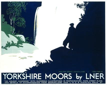 'Yorkshire Moors', LNER poster, 1923-1947.