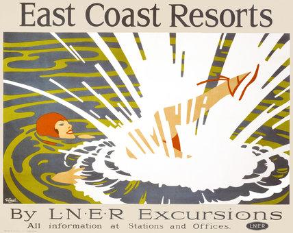 'East Coast Resorts', LNER poster, 1935.