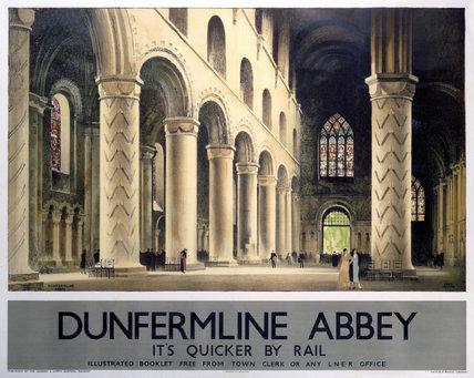 'Dunfermline Abbey', LNER poster, 1936.