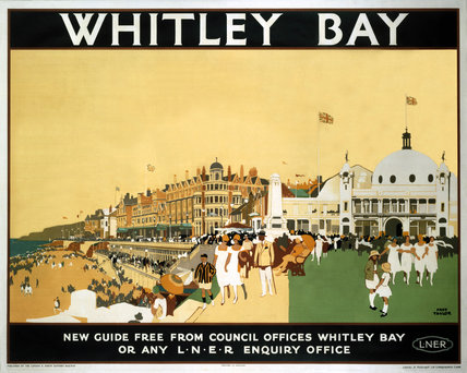 'Whitley Bay', LNER poster, 1930.