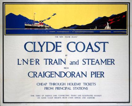 'Clyde Coast', LNER poster, 1931.