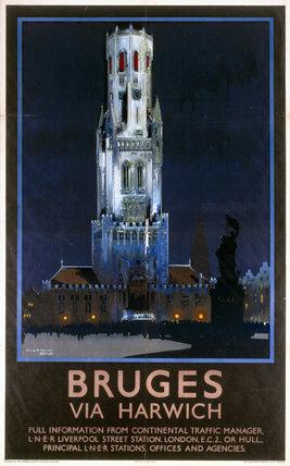 'Bruges', LNER poster, 1933.