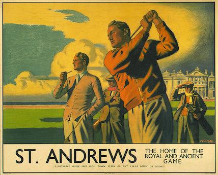 'St Andrews', LNER poster, 1939.