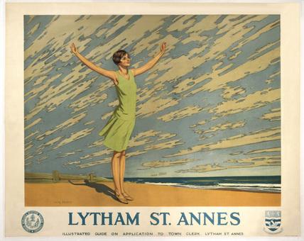 'Lytham St Annes', LMS poster, 1923-1930.
