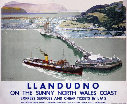 'Llandudno', LMS poster, 1923-1947.