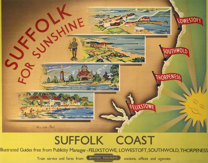 'Suffolk for Sunshine', BR poster, after 1948.