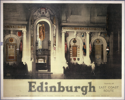'Edinburgh:The Scottish National War Memorial', LNER poster, 1929.