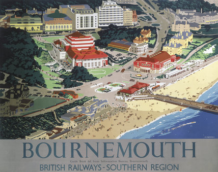 'Bournemouth', BR poster, 1947.