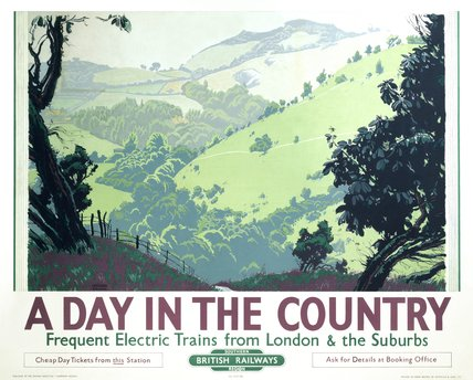 'A Day in the Country', BR poster, 1948.