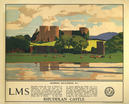 'Rhuddlan Castle', LMS poster, 1929.