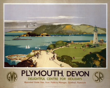 'Plymouth, Devon', GWR/SR poster, 1938.