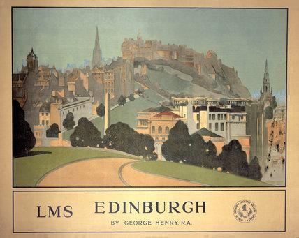 'Edinburgh', LMS poster, 1924.