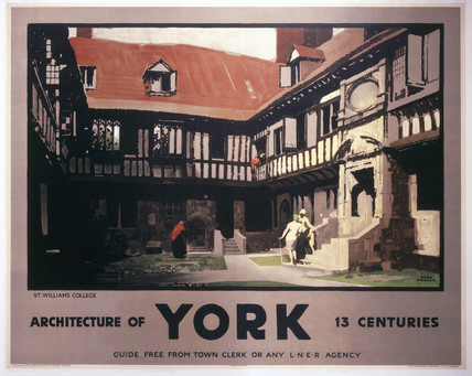 'York - Architecture of Thirteen Centuries', LNER poster, 1930.