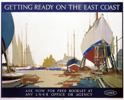 'Getting Ready on the East Coast', LNER poster, 1923-1947.
