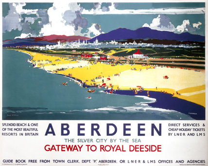 'Aberdeen, Gateway to Royal Deeside', LNER/LMS poster, 1935.