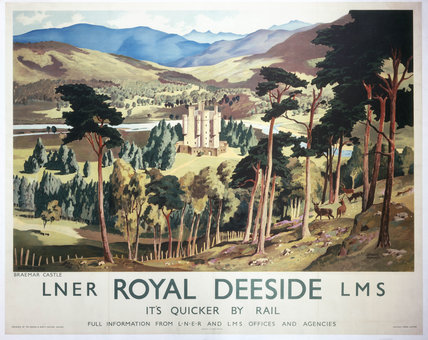 'Royal Deeside', LNER/LMS poster, 1937.