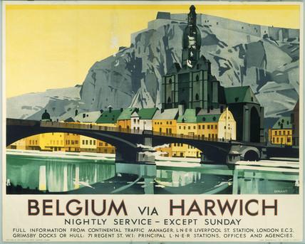 'Belgium via Harwich', LNER poster, 1923-1947.