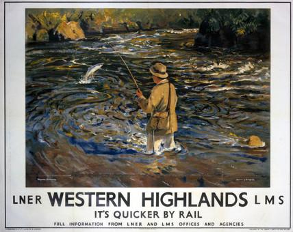 'Western Highlands', LNER/LMS poster, 1935.