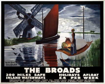 'The Broads', LNER poster, 1932.