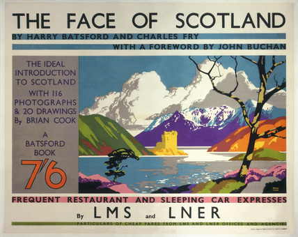 'The Face of Scotland', LMS/LNER poster, 1935.